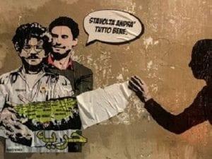 Il nuovo murales dedicato a Giulio Regeni e Patrick Zaki