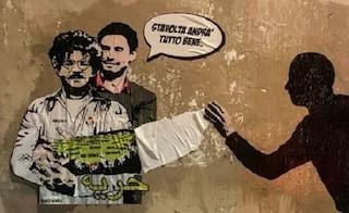 """Realizzato un nuovo murales dedicato a Zaki e Regeni: """"Nessuno può ridurci in silenzio"""""""