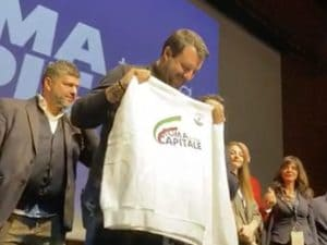 Matteo Salvini al Palazzo dei Congressi dell'Eur