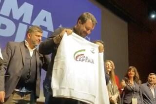 """""""Roma torna Capitale"""", l'evento della Lega all'Eur. Salvini: """"Vinceremo, è solo questione di tempo"""""""