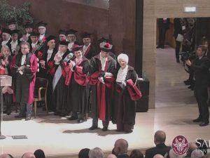 La senatrice Liliana Segre all'Inaugurazione dell'anno accademico dell'Università La Sapienza