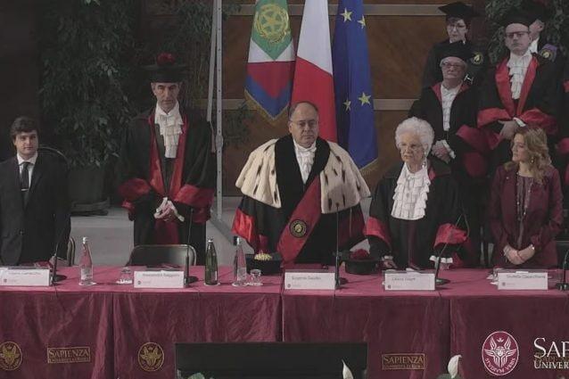 Segre riceve il dottorato Honor Causa alla Sapienza