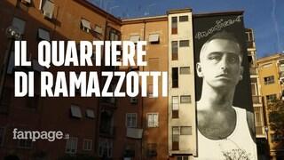 """Un murales per Eros Ramazzotti. Gli amici del quartiere: """"È stato contento, lui per noi c'è sempre"""""""