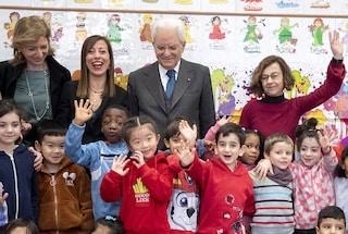 Coronavirus, il presidente Mattarella visita scuola di Roma con tanti alunni cinesi
