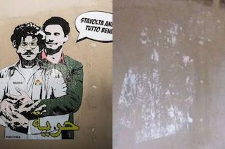 """Rimosso il murales dedicato a Zaki e Regeni, l'autrice: """"Faceva così tanta paura?"""""""