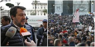 Le Sardine in piazza il 16 febbraio a Roma contro la convention della Lega con Matteo Salvini