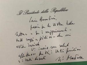La lettera del Presidente Sergio Mattarella agli studenti della Carlo Pisacane