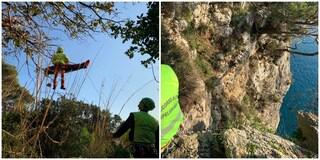 Gaeta: escursionista salvato in elicottero mentre scala una parete a strapiombo sul mare