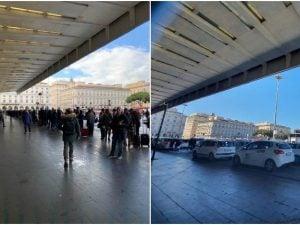 Stazione Termini: dalle file di viaggiatori alla ricerca di un taxi alle file dei taxi alla ricerca di un cliente