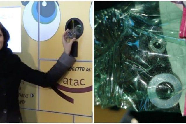 Bulloni e rondelle hanno rotto la nuova macchinetta mangiaplastica istallata alla metro Anagnina