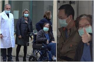 """Coronavirus, i coniugi cinesi escono da Spallanzani: """"Signora piangeva di gioia e ci ringraziava"""""""