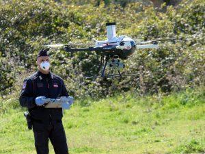 Droni in azione nel parco della Caffarella