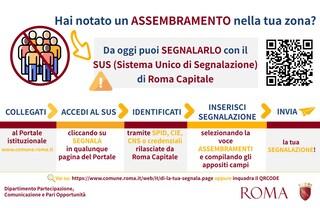 """Coronavirus Roma, l'iniziativa di Raggi: """"Hai notato un assembramento? Segnalalo al Comune"""""""