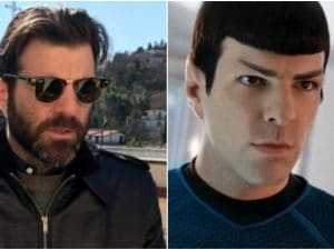 L'attore Zachary Quinto nei panni del signor Spock, l'ufficiale scientifico dell'Enterprise in Star Trek