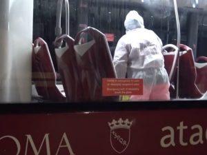 Sanificazione a bordo di bus Atac