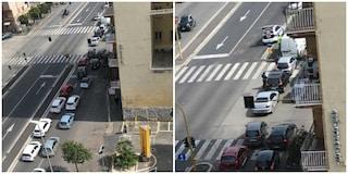 Emergenza Covid-19, a Roma controlli dei vigili su via Tiburtina: fermate tutte le auto, traffico in tilt