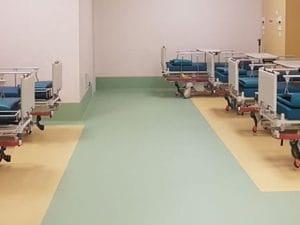 Il reparto Covid del Campus Biomedico di Roma