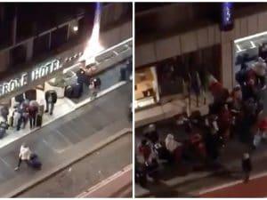 "L'arrivo dei croceristi all'Hotel Cicerone dal gruppo Facebook ""Sei di Prati se"""
