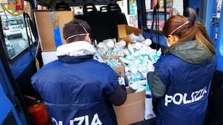 Coronavirus, centinaia di mascherine e gel igienizzanti sequestrati donati alla protezione civile