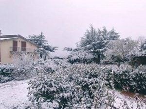 Le immagini della nevicata nel Viterbese