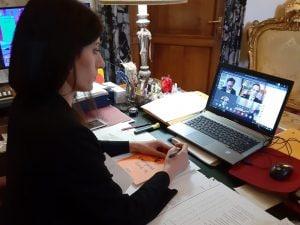 Virginia Raggi in videoconferenza all'Assemblea Capitolina