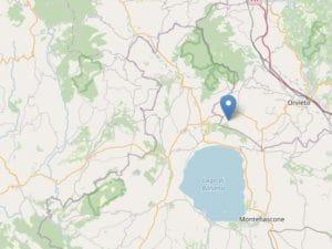 Epicentro dello sciame sismico al confine tra Lazio e Umbria