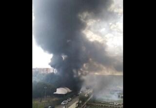 Incendio a Centocelle, brucia il teatro tenda