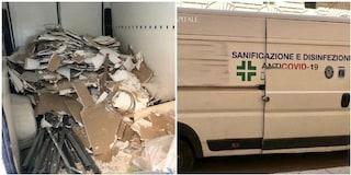 Furgone per false sanificazioni in via del Corso nascondeva un carico di rifiuti speciali
