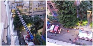 Fiamme all'alba in un appartamento a Conca d'Oro: intervengono i vigili del fuoco