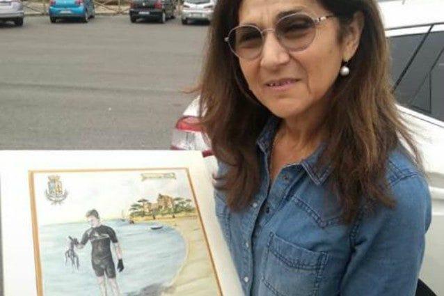 Mamma Marina con il premio del Comune di Santa Marinella