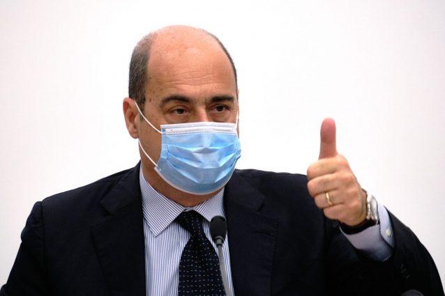 Conferenza stampa di Nicola Zingaretti all'ospedale Spallanzani di Roma