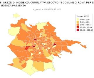 I casi di contagio da coronavirus in tutti i quartieri di Roma (dati aggiornati al 18 maggio)