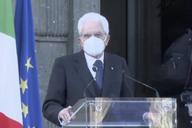 Il presidente della Repubblica, Sergio Mattarella, all'Istituto Spallanzani
