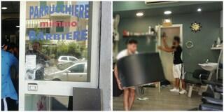 """Assalto con mazze a Centocelle, barbiere aggredito: """"Avevano già provato a dare fuoco al negozio"""""""