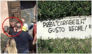 """Dopo la rissa al Circo Massimo minacce e scritte contro Carabella: """"Pizza gusto infame"""""""