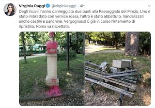 Raggi qualcosa non torna: cosa c'entra la protesta antirazzista con la statua di un pittore?