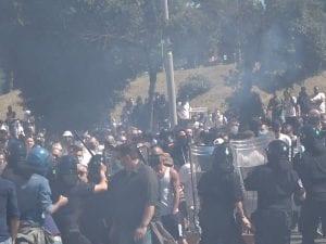 Gli scontri al Circo Massimo (Foto di Simona Berterame)