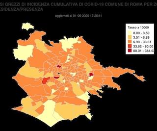 I casi di coronavirus in tutti i quartieri di Roma (dati aggiornati al primo giugno 2020)