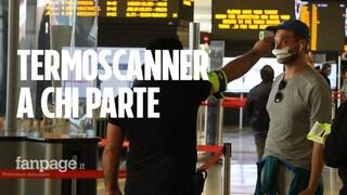 """Termoscanner a Termini nel primo giorno di apertura della regione: """"Chi ha 37,5 non sale sul treno"""""""