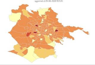 Coronavirus, la mappa dei contagi nei quartieri di Roma : Val Melaina e Garbatella i più colpiti