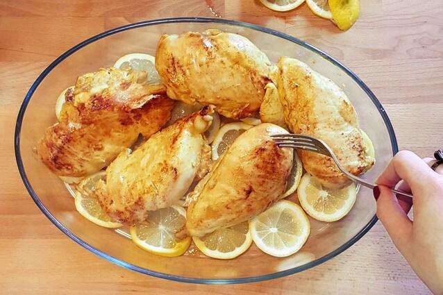 pollo al limone pirofila