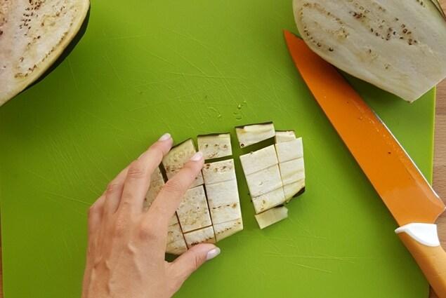 melanzane funghetto cubi