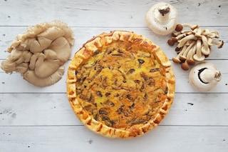 Quiche ai funghi: la torta salata ideale per l'autunno