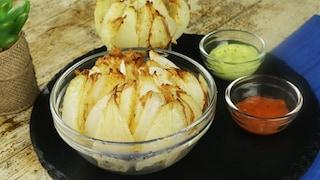 Cipolla intera fritta: la ricetta della cipolla a fiore sfiziosa e croccante