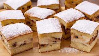 Quadrotti di ricotta e gocce di cioccolato: il dolce dal cuore morbido semplice e goloso
