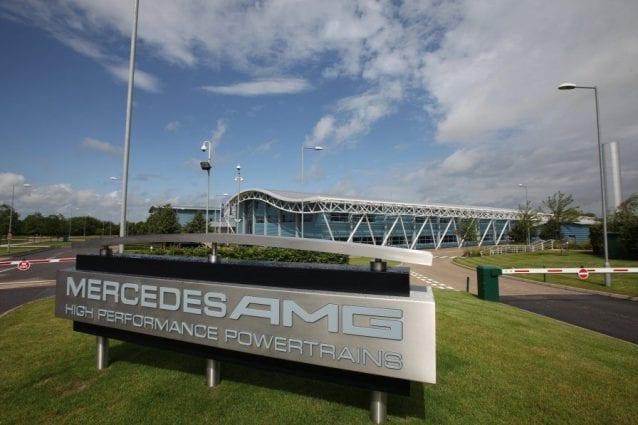 La sede della Mercedes High Performance Powertrains (HPP), la divisione motori della scuderia britannica / Mercedes AMG F1