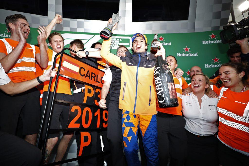 Primo podio in carriera per Sainz, al Gp Brasile.