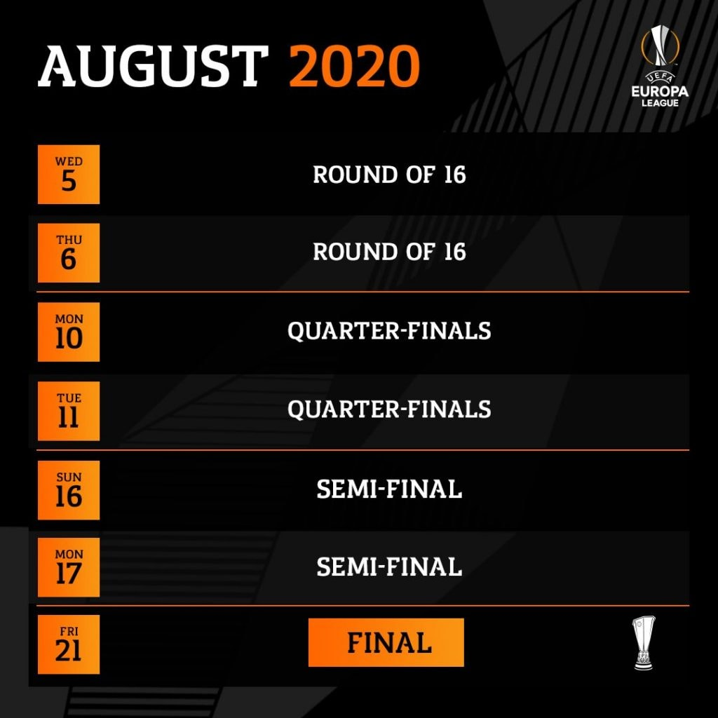 Calendario Champions League 2021 Quarti Di Finale Calendario Europa League, Final Eight 2020: date e partite di agosto