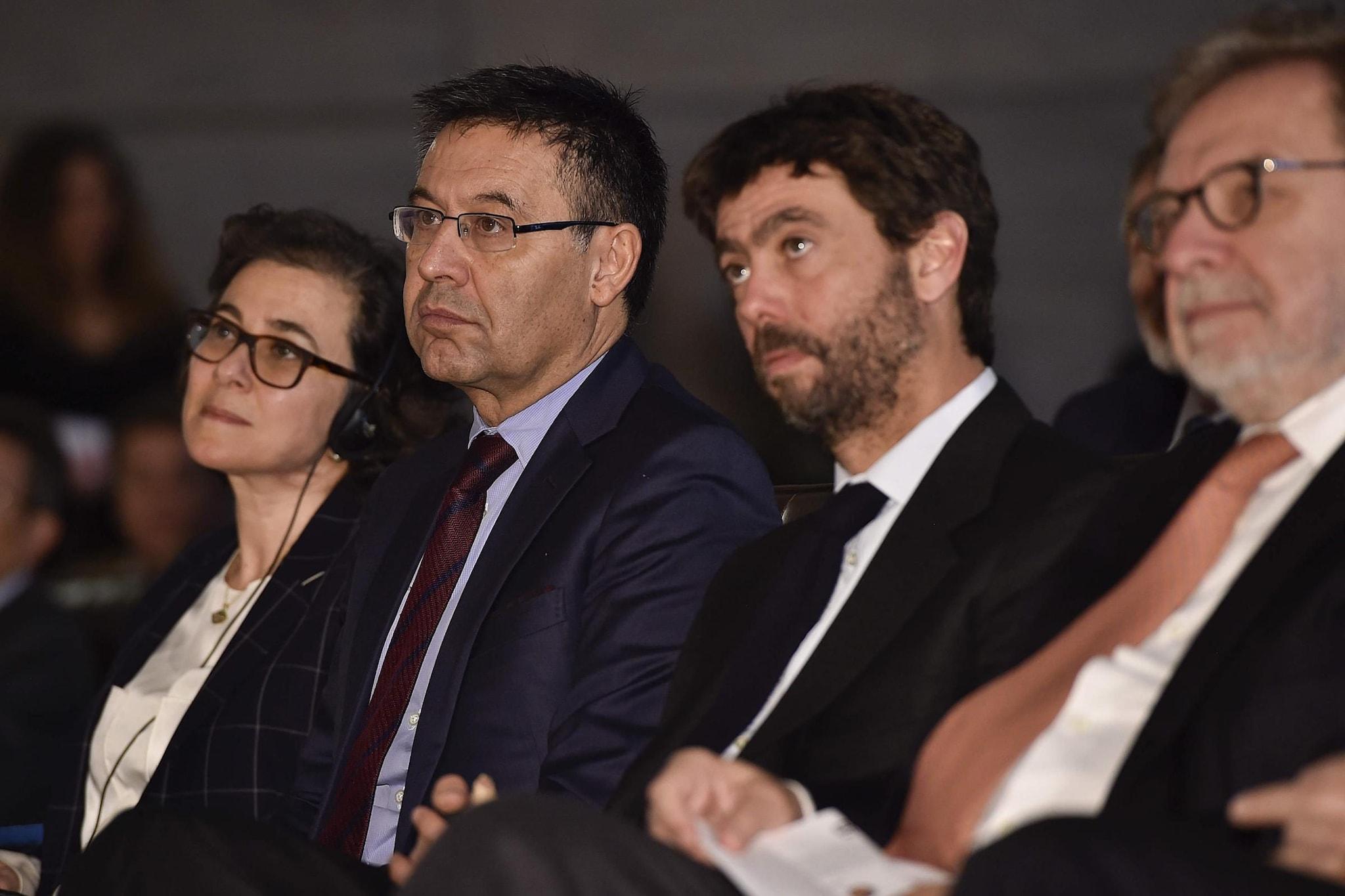 Bartomeu e Agnelli, i due presidenti di Barcellona e Juventus
