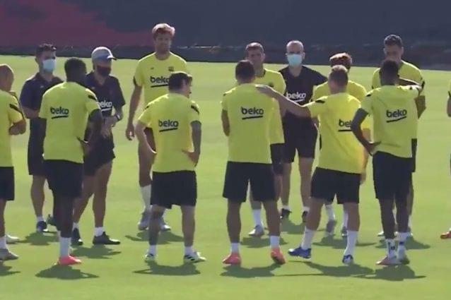 Arthur alla Juventus, discorso d'addio ai compagni del Barcellona ...